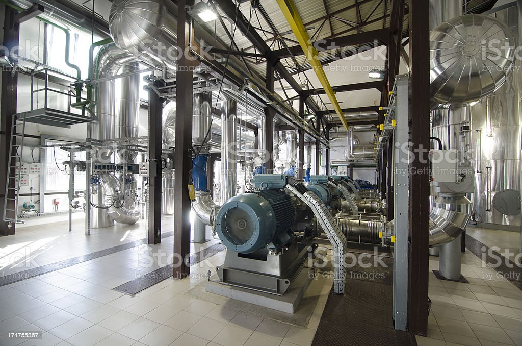 Heating plant stock photo