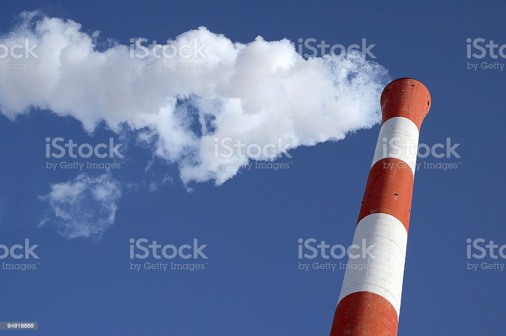 Heating plant royalty-free stock photo