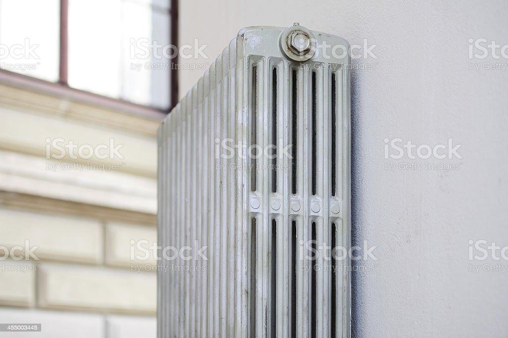 Heating radiator and wall royalty-free stock photo