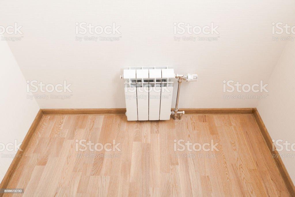 heating radiator at home stock photo