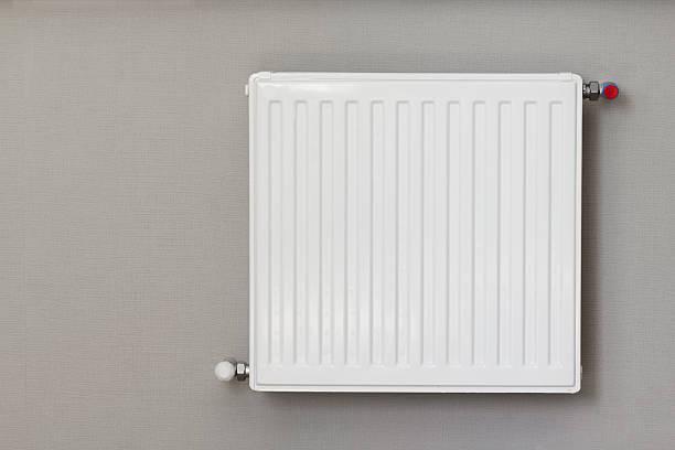 Heating radiator stock photo