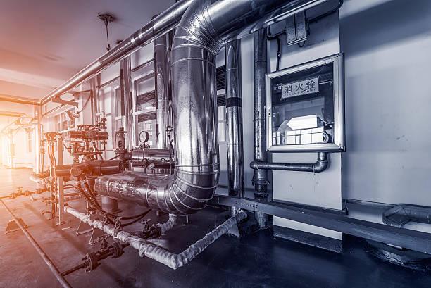 heating system. - industriële apparatuur stockfoto's en -beelden