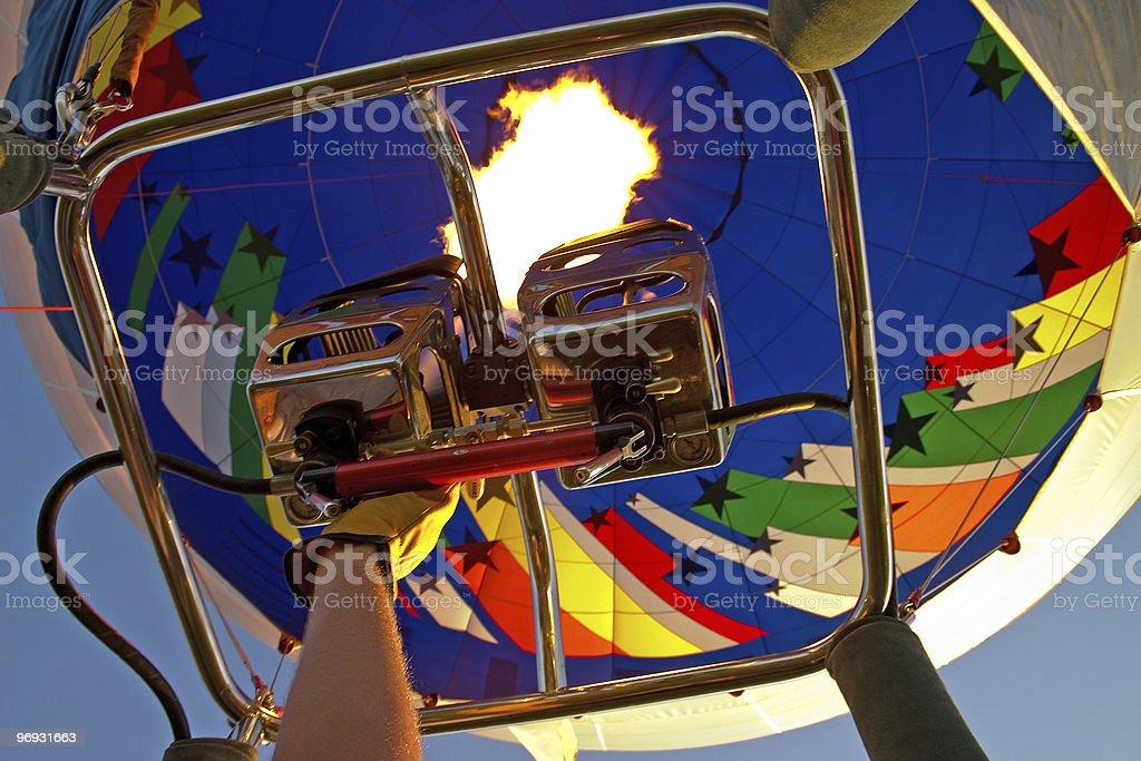 Heating the balloon royalty-free stock photo