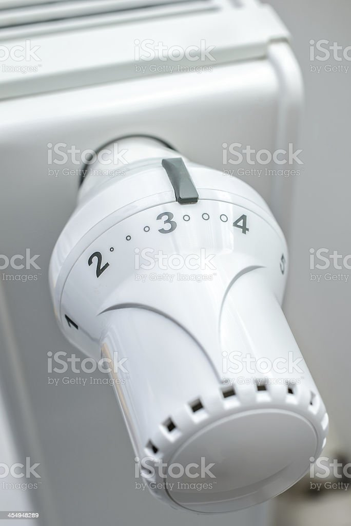 Heating thermostat royalty-free stock photo
