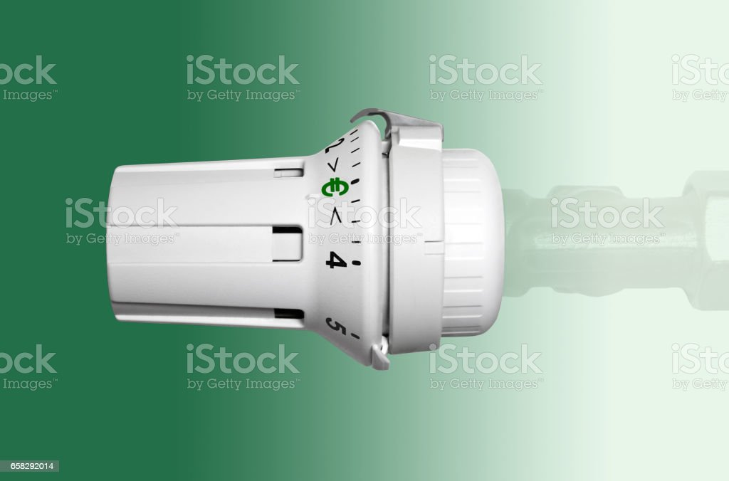 Heating thermostat stock photo