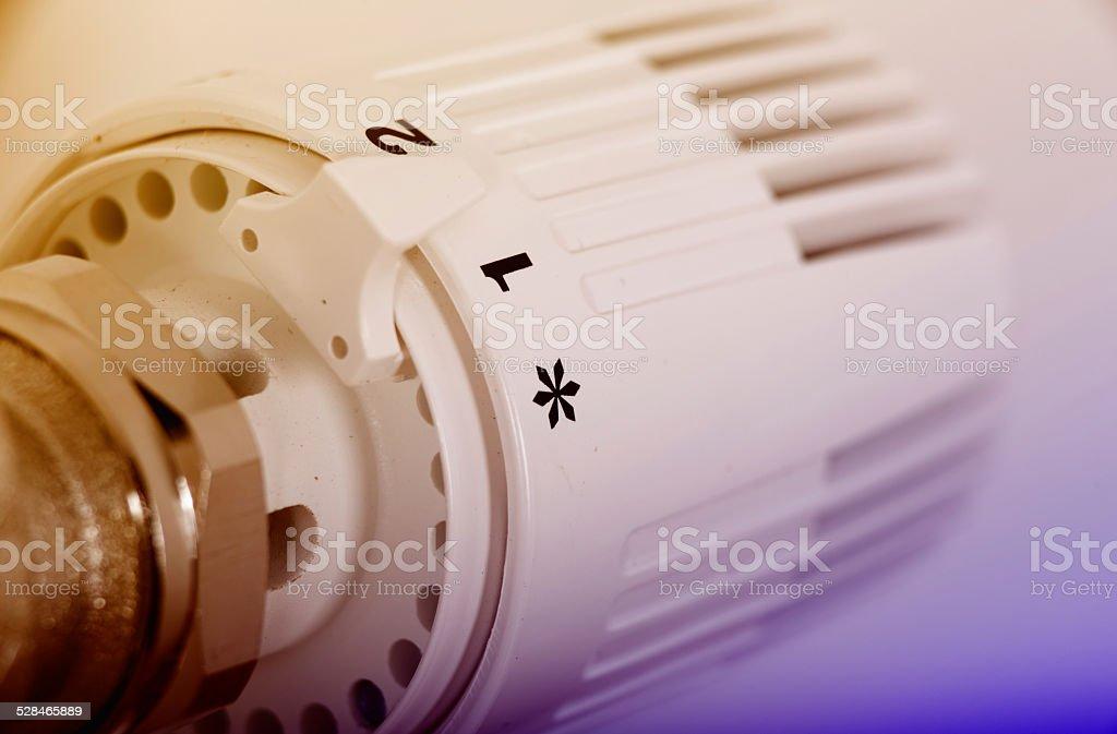 Heating valve stock photo