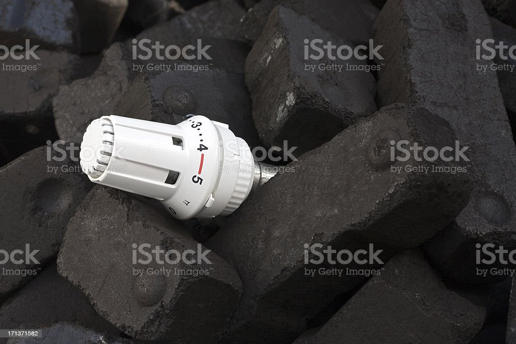 heating with coal royalty-free stock photo