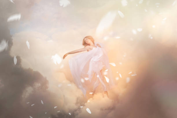 Heaven and angel stock photo