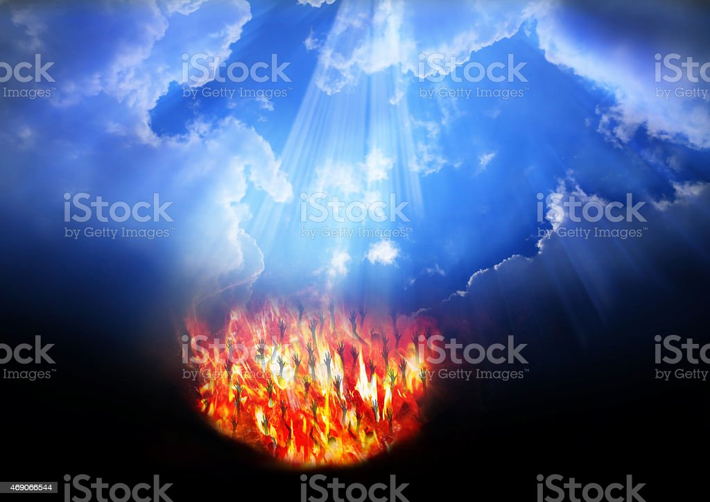 Heaven and Hell stock photo