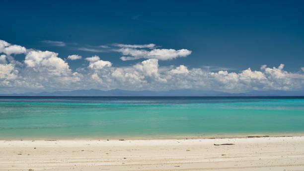 Heaven beach of Contadora island in the Pacific Ocean stock photo