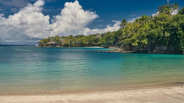 Heaven beach Playa Caracol of Contadora Island in the Pacific Ocean stock photo