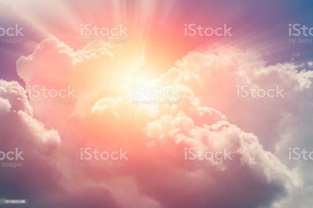 heaven cloud sky sunny bright for future wealth fortune day concept - Zbiór zdjęć royalty-free (Bez ludzi)