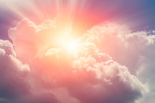 Heaven Cloud Sky Sunny Bright For Future Wealth Fortune Day Concept - zdjęcia stockowe i więcej obrazów Bez ludzi