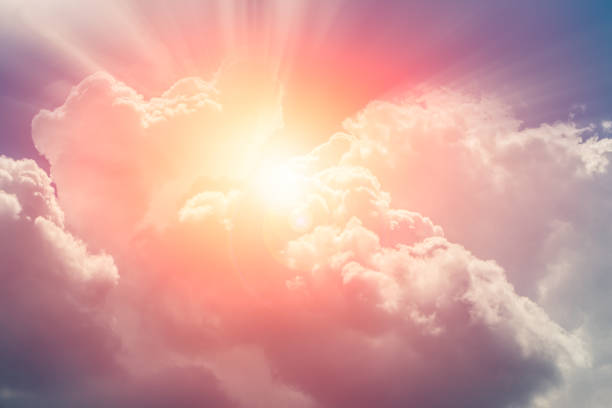 heaven cloud sky sunny bright for future wealth fortune day concept heaven cloud sky sunny bright for future wealth fortune day concept sunrise stock pictures, royalty-free photos & images