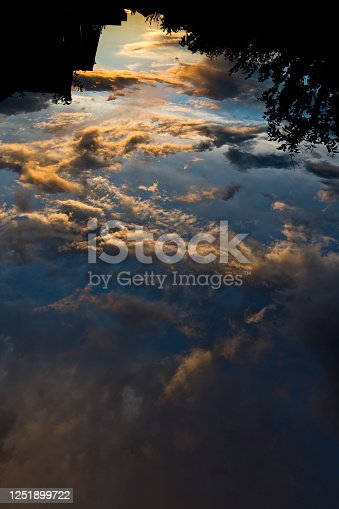 Heaven clouds on sunset
