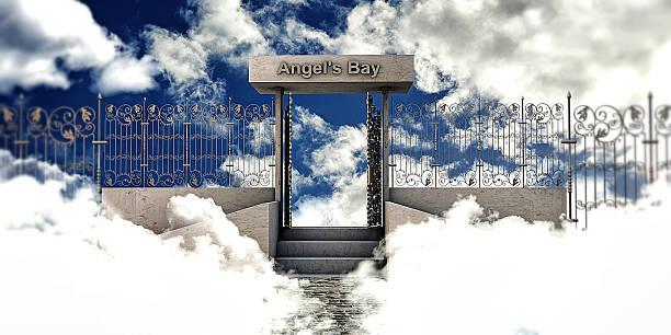 himmel tor - engelportal stock-fotos und bilder