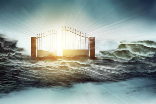 heaven gate to god blessing - peter the apostle stock photos and pictures