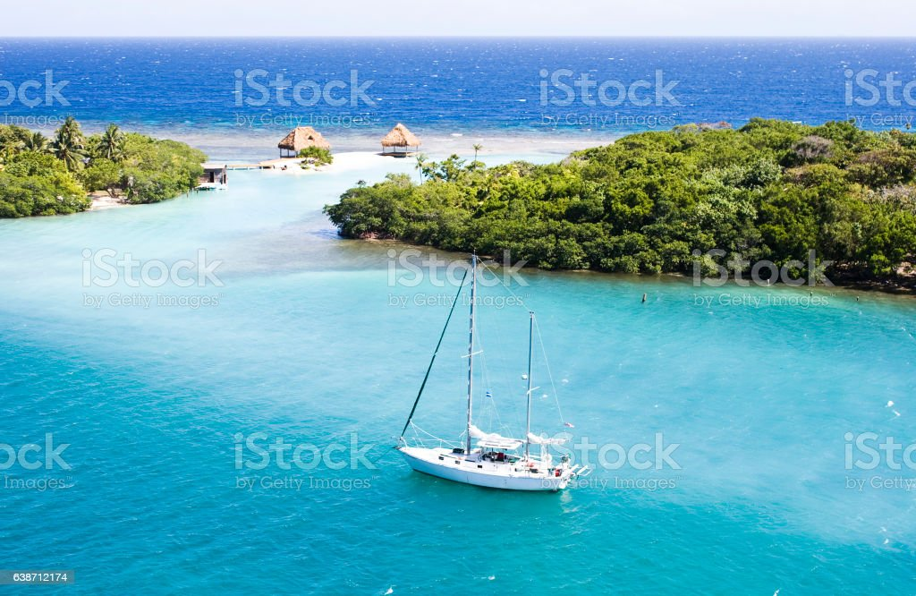 Heaven in Roatan stock photo