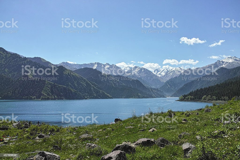 Heaven Lake stock photo