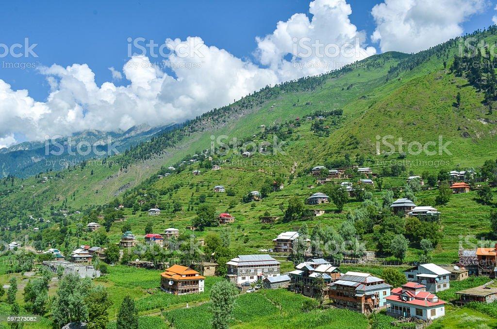 Heaven on Earth, the land of AJK, Kashmir, Pakistan Lizenzfreies stock-foto