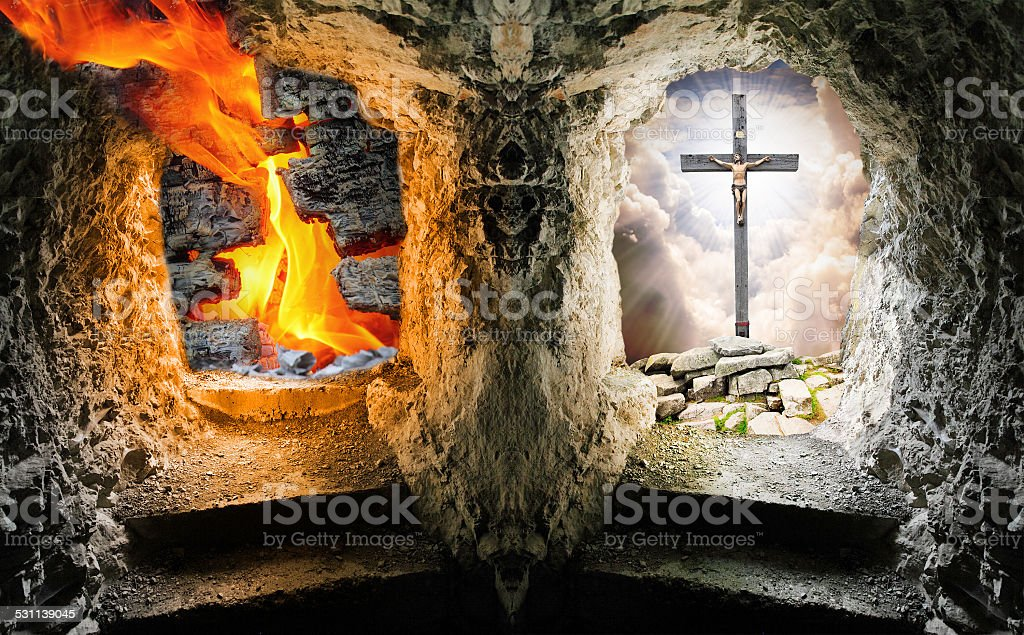 Heaven or hell. stock photo