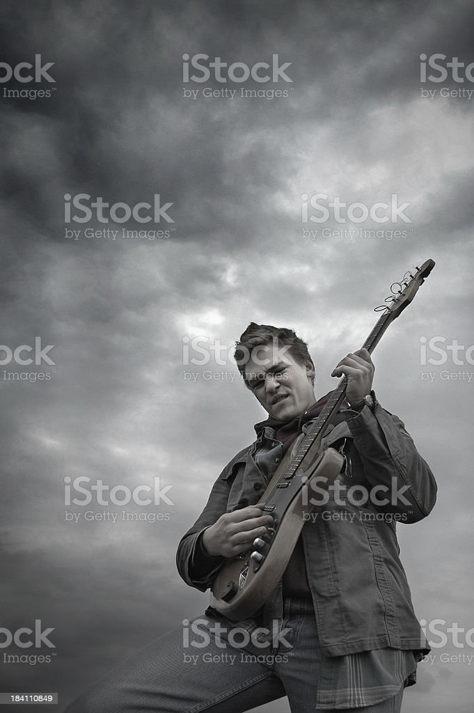 heaven rock and roll stock photo