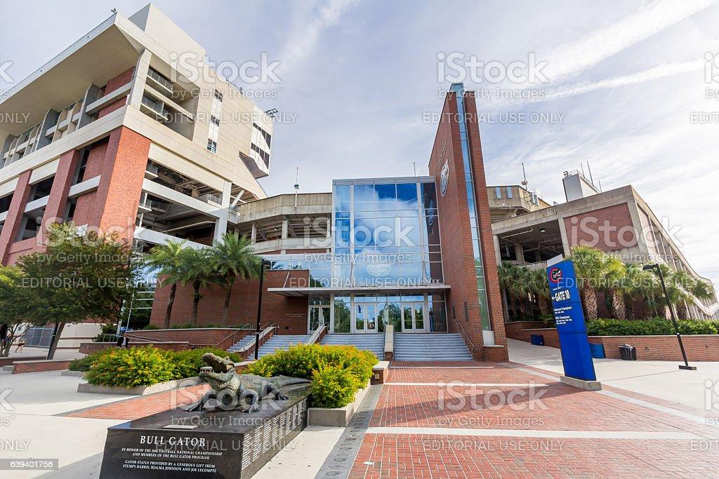 Heavener Football Complex at the University of Florida stock photo