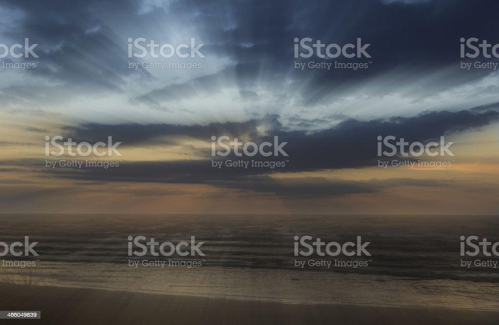 Heavenly Light Blast royalty-free stock photo