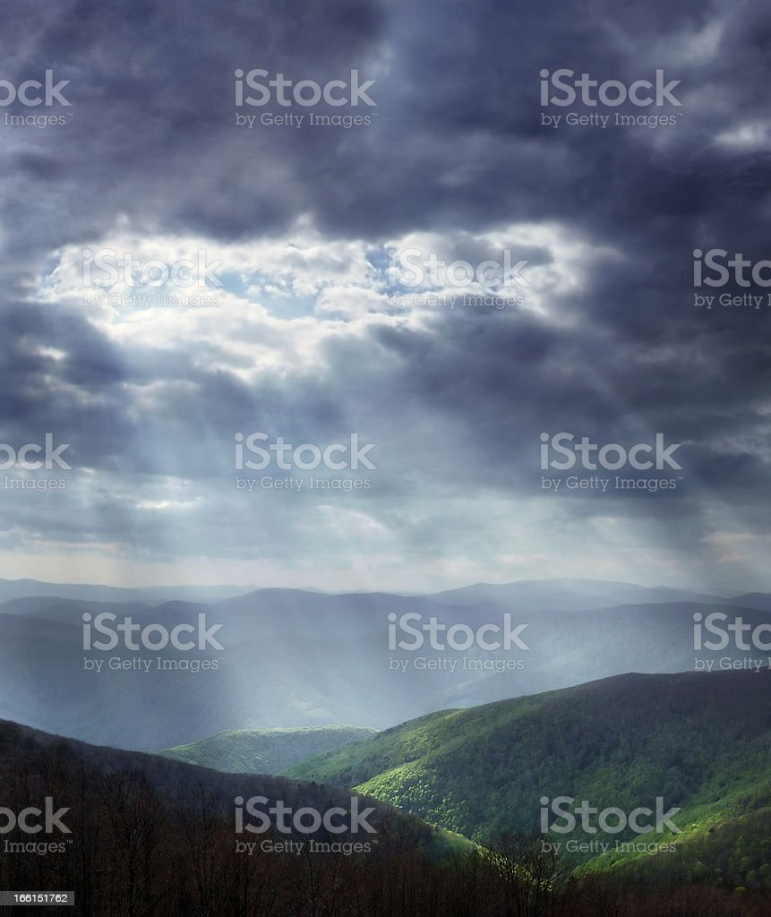 Heavenly light royalty-free stock photo
