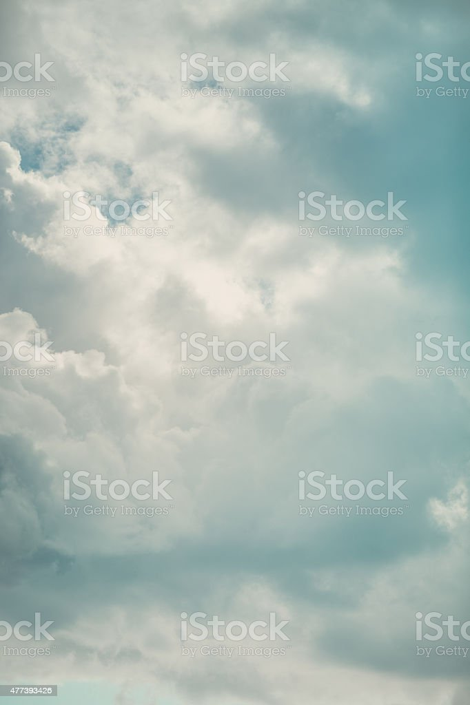 Heavenly sky - blue and white cloudscape stock photo