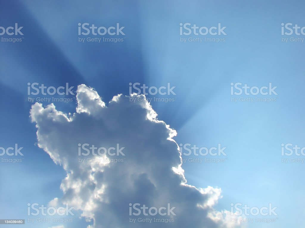 Heavenly Sun Rays royalty-free stock photo