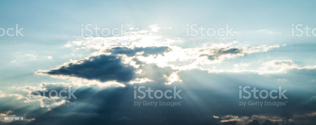 Heavenly Sunbeams stock photo