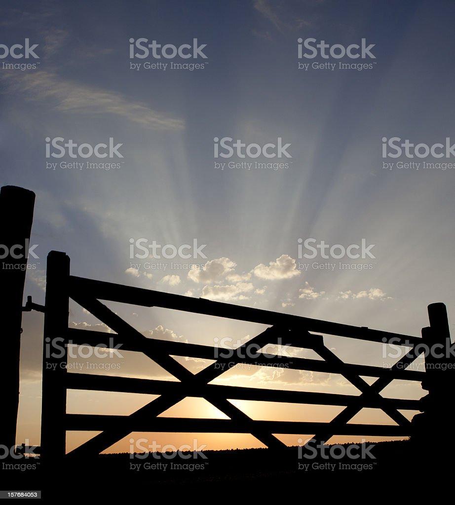Heaven's gate royalty-free stock photo