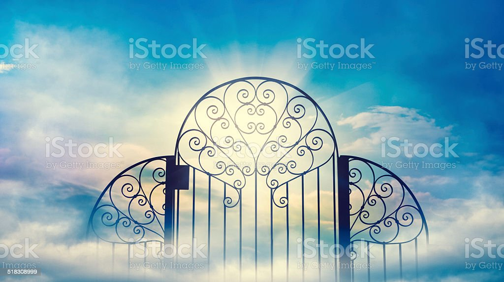 Heaven's Gate Heaven's Gate Black Color Stock Photo