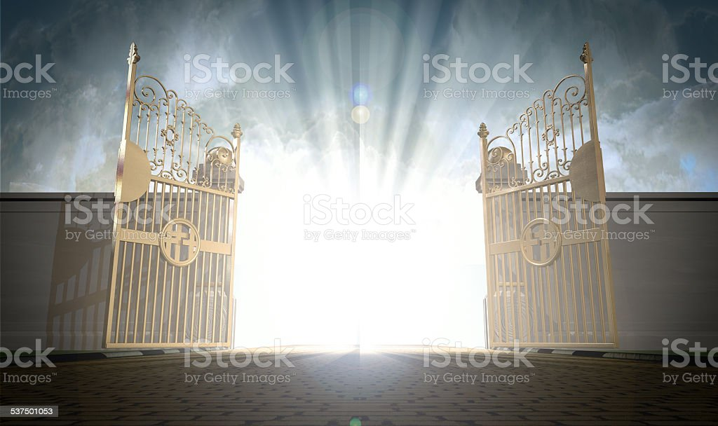 Heavens Gates Opening stock photo