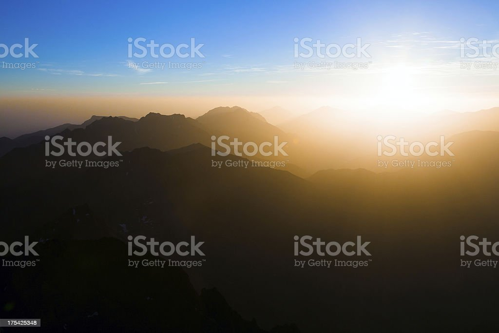 Heaven's light stock photo