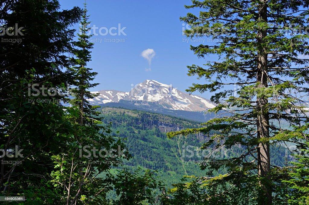 Heaven's Peak Glimpse stock photo