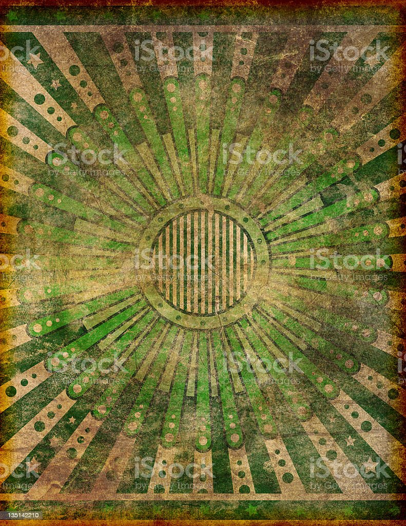 Heavily Damaged and Faded Retro Grunge Design stock photo