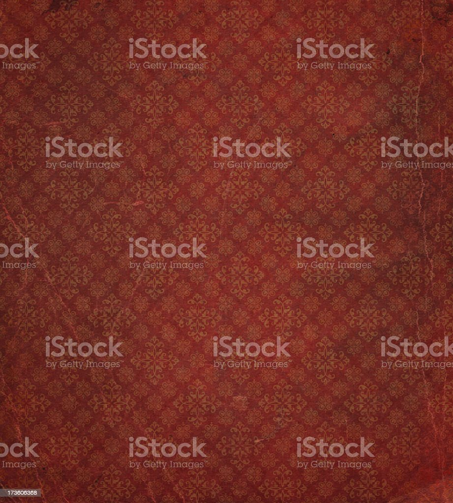 heavily distressed wallpaper pattern stock photo