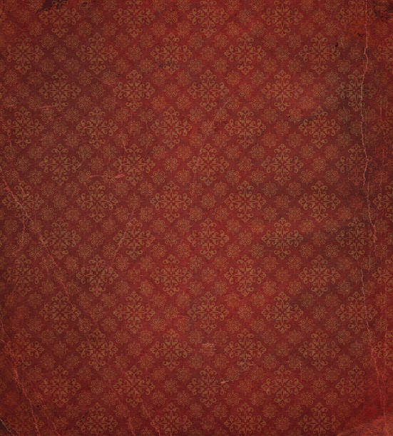 heavily distressed wallpaper pattern - art nouveau stock photos and pictures