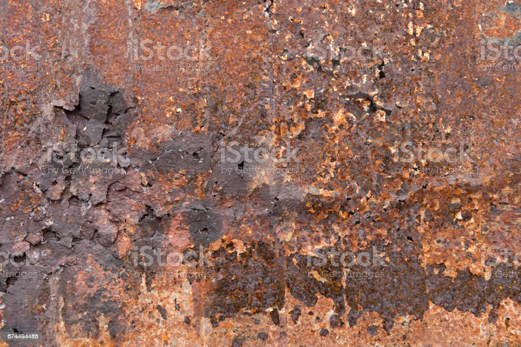 Heavily Rusted Iron Surface for Backgrounds stock photo
