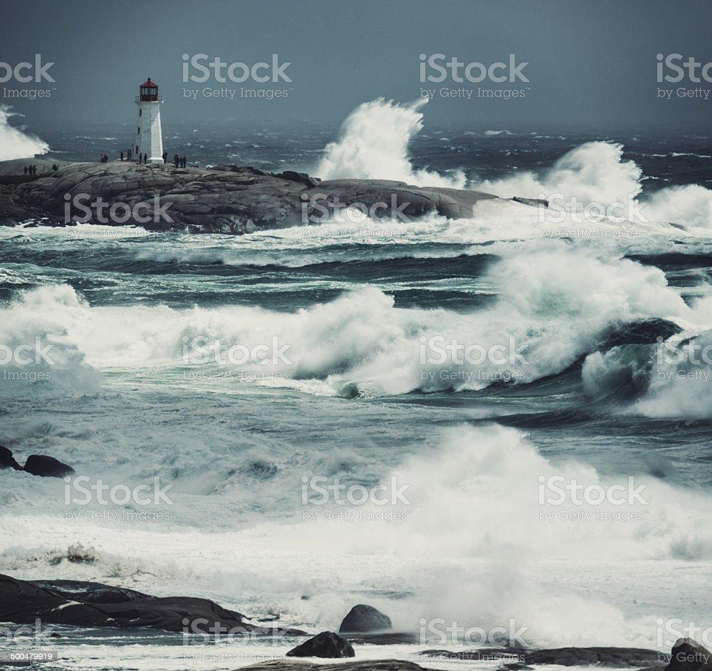 Heaving Seas of Arthur stock photo