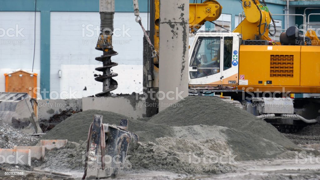 Heavy Auger Drilling Rig stock photo