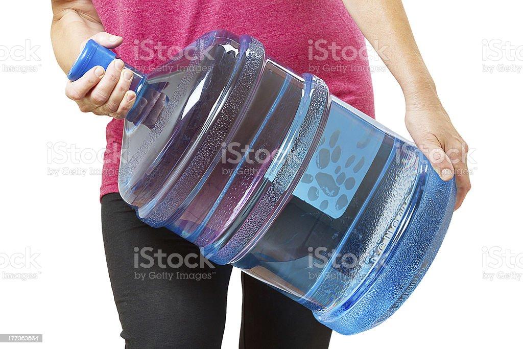 Heavy big bottle of water stock photo