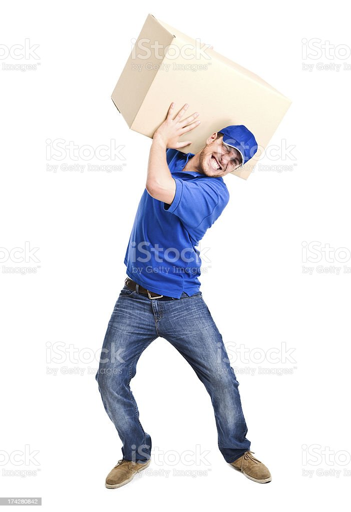 Heavy box royalty-free stock photo