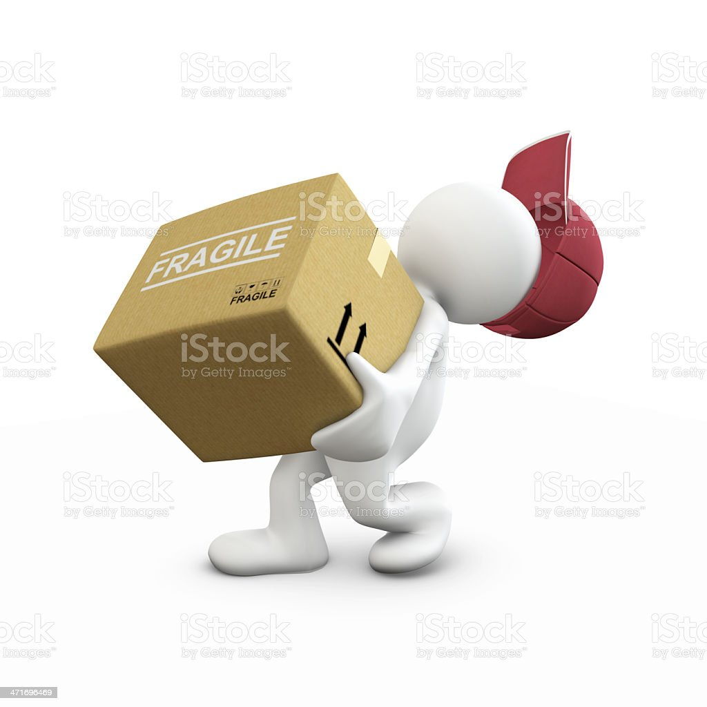 Heavy box!! royalty-free stock photo