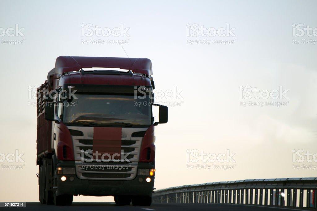 Heavy Cargo on the Road royalty-free stock photo