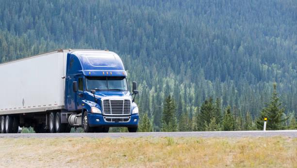 Heavy Cargo on the Road stock photo