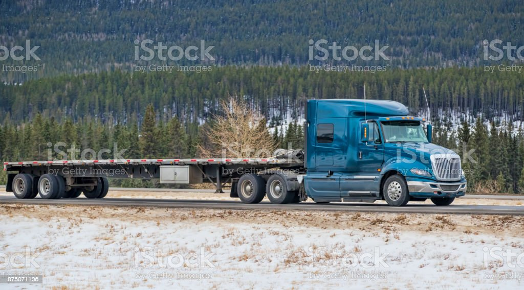 Heavy Cargo on the Road stock photo