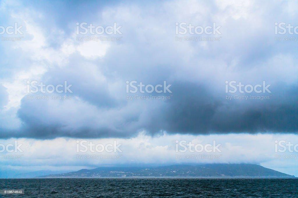 Heavy Clouds Over Mediterranean stock photo